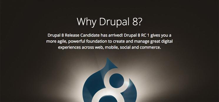 Keyvisual zum Blogartikel Drupal 8 Release