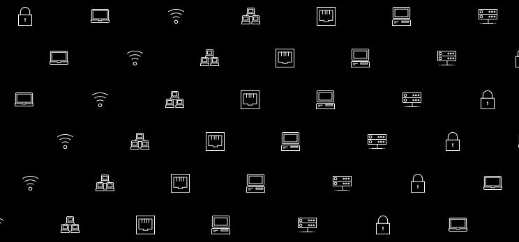 Server Security Icons auf schwarzem Hintergrund als Keyvisual für einen Blog Artikel