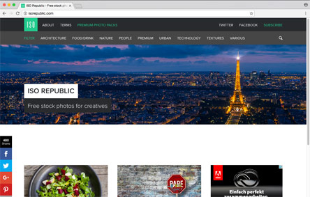 Screenshot der Website Iso Republic