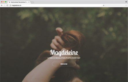 Screenshot der Website Magdeleine