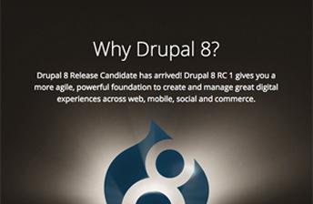 Teaserbild zum Blogartikel Drupal 8 Release