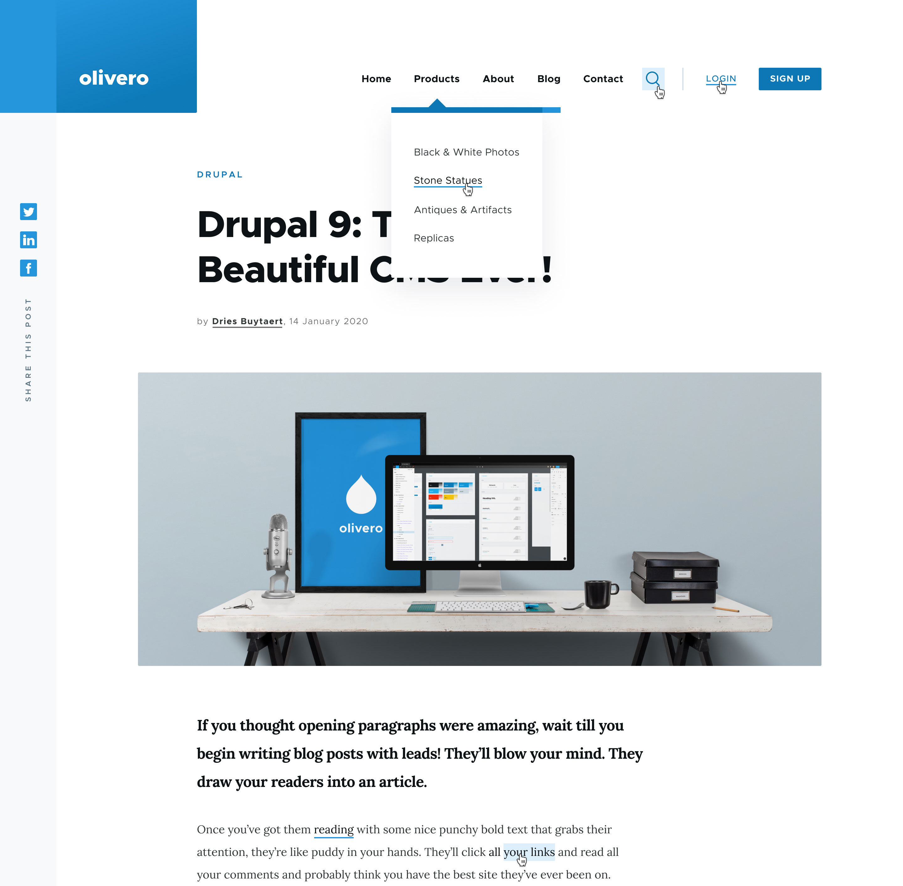 Olivero Drupal 9.1 Frontend Theme