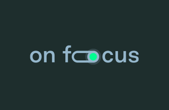 Logo on foocus, dark