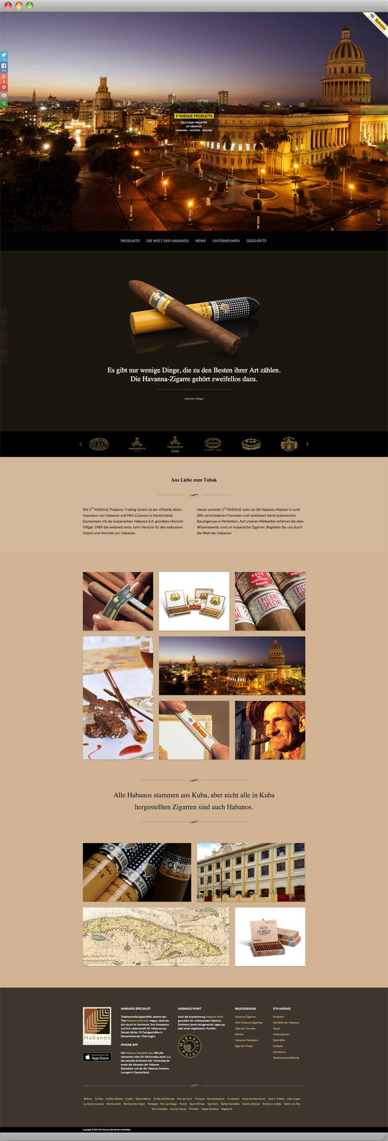 Screenshot Startseite der 5th-Avenue Products Trading-GmbH Website