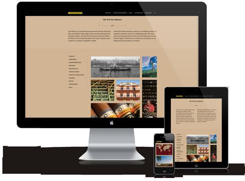 Desktop, Tablett und Smartphone zeigen die gleiche Website im Responsive Webdesign