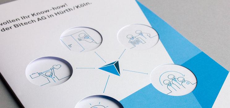 Einlageblatt von Bewerbermappe (mit Icon Set)
