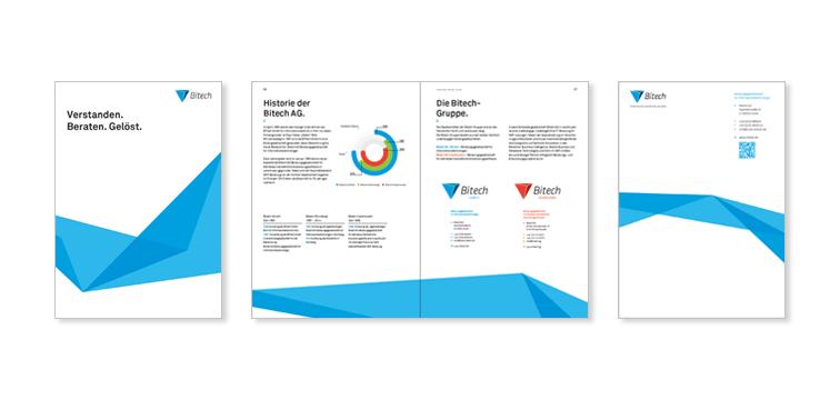Broschüre – Corporate Design der Bitech AG Hürth