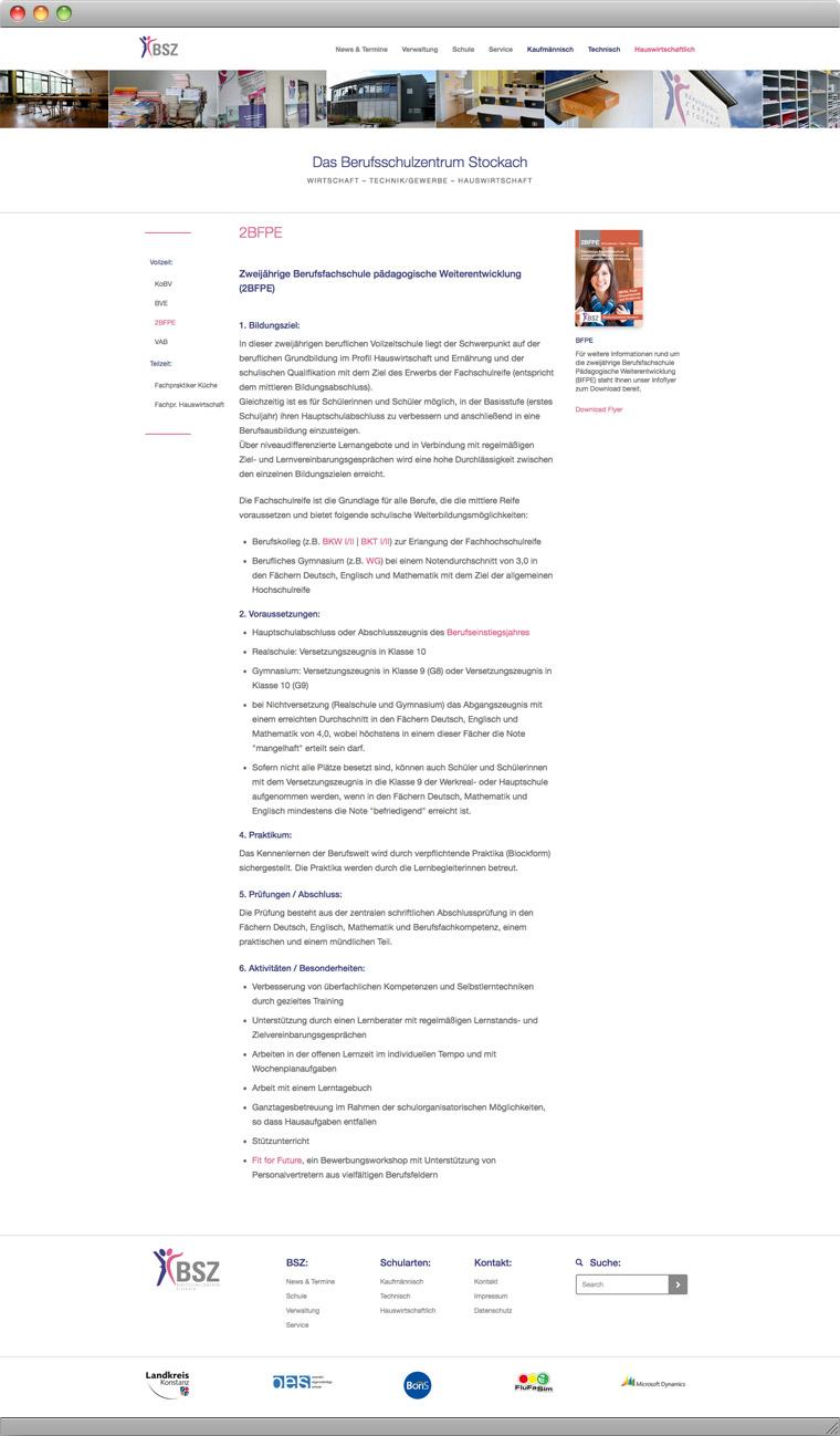 BSZ Schulart Information