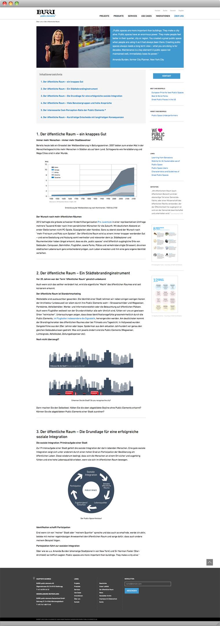 Screenshot Der öffentliche Raum – BURRI public elements AG