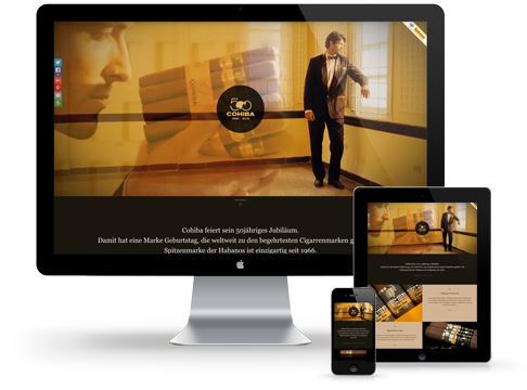 Responsive Webdesign: PC, Tablet und Smartphone zeigen die gleiche Website