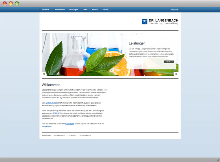 Screenshot Website Startseite Dr. Philipp Langenbach GmbH