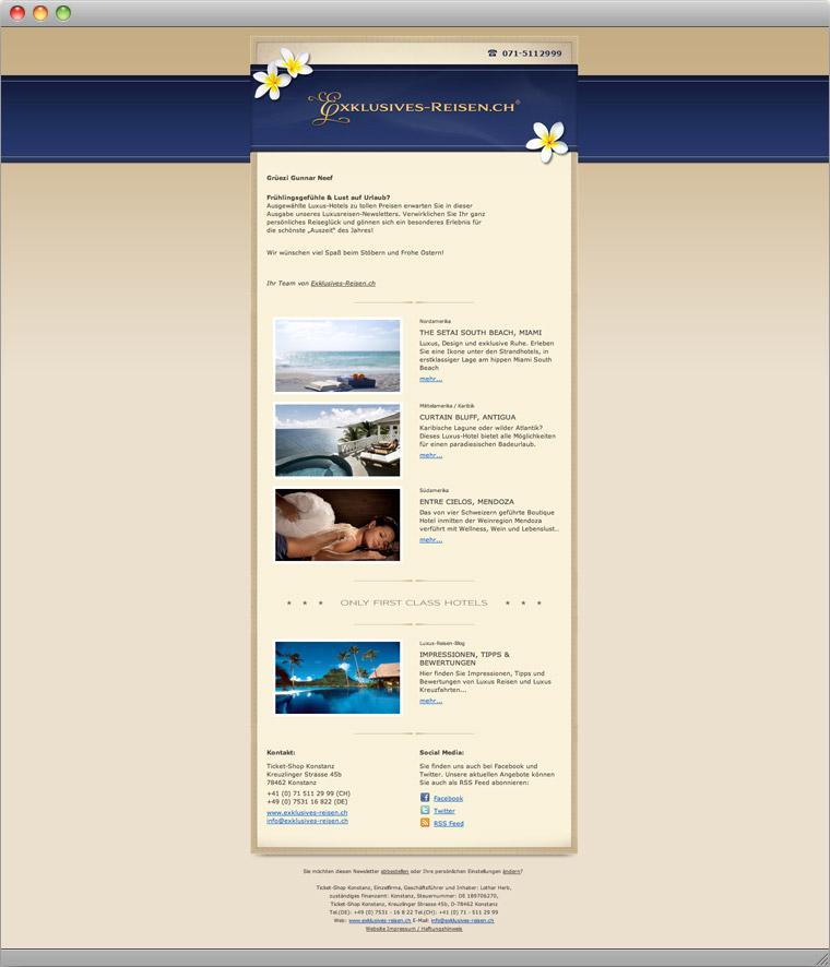 Newsletter Exklusives-Reisen.ch