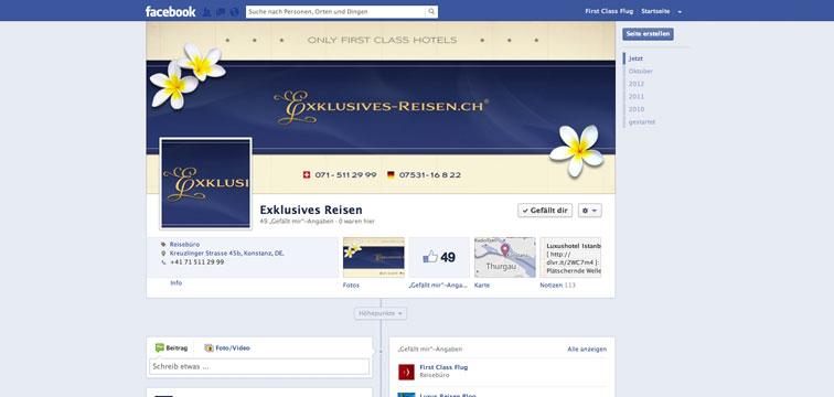 Facebook Page Exklusives-Reisen.ch