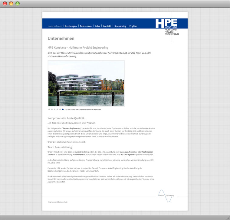 Screenshot Drupal Website Hoffmann Projekt Engineering Konstanz