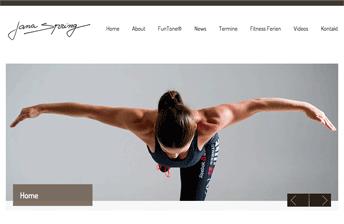 Screenshot Jana Spring Website