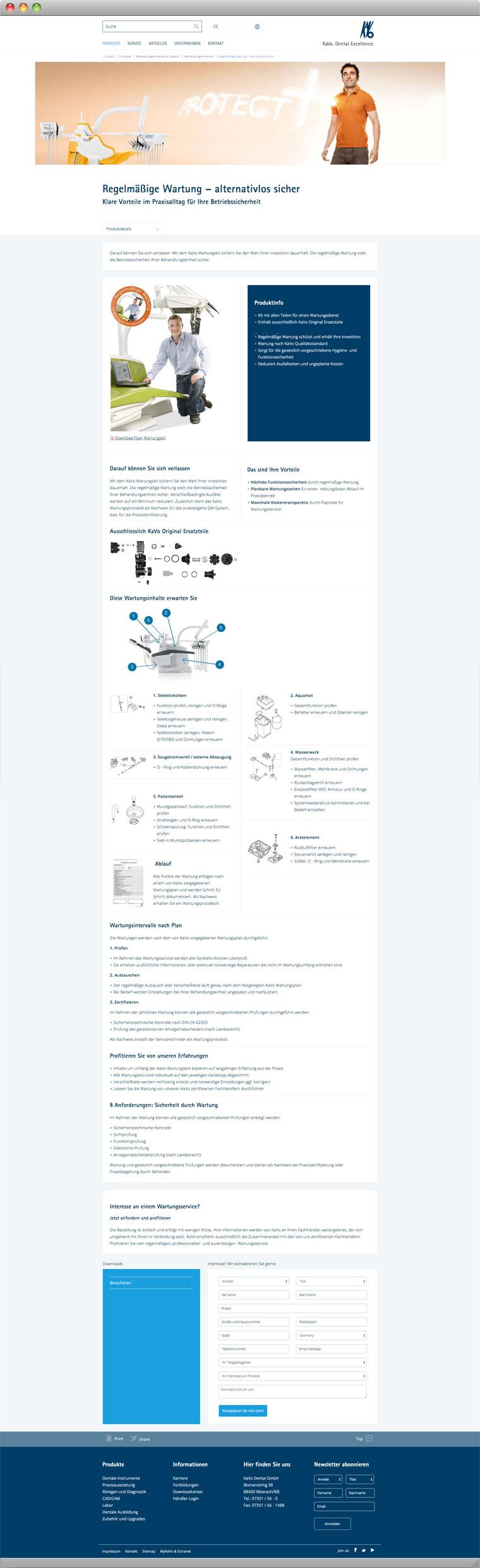 Screenshot Screenshot KaVo Dental GmbH Wartung