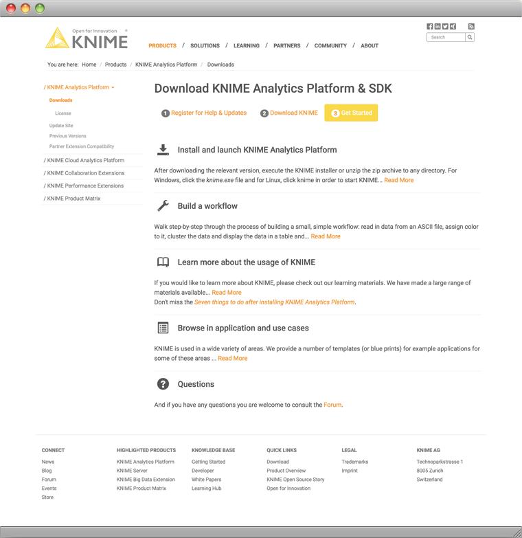 KNIME - komplexe Drupal 8 Website