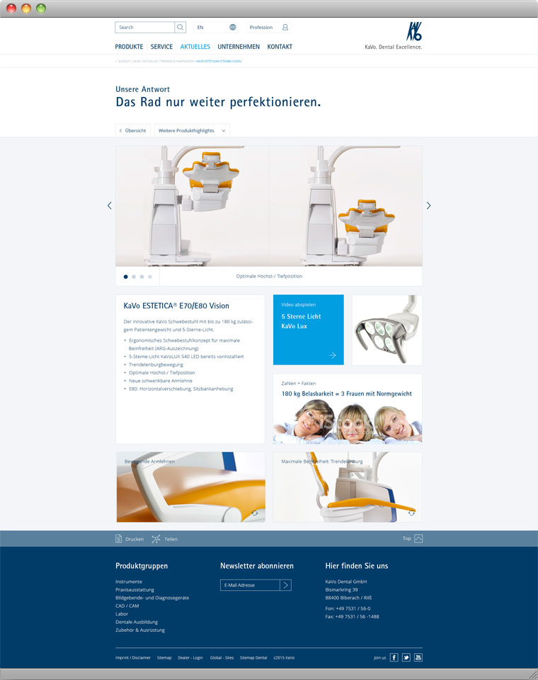 Screenshot Micro-Site-Entwurf 3