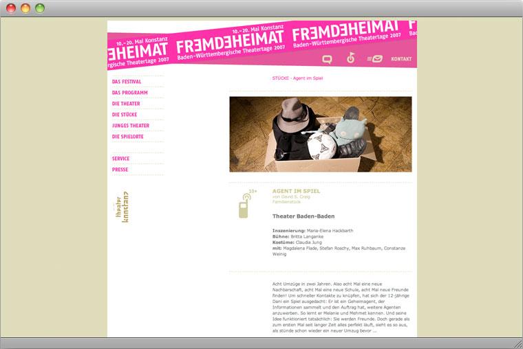 Website Baden-Württembergische Theatertage