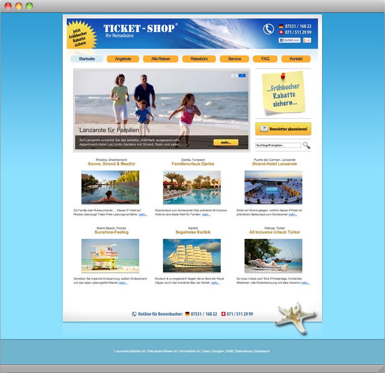 Startseite Reisebüro Ticket-Shop Konstanz