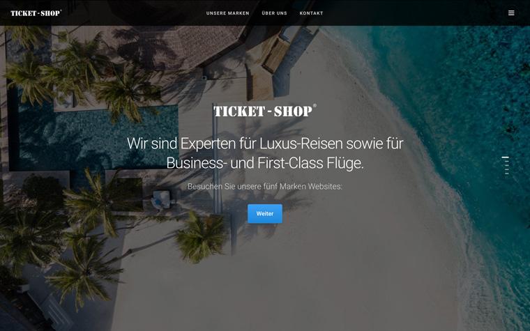 Startseite Ticket-Shop