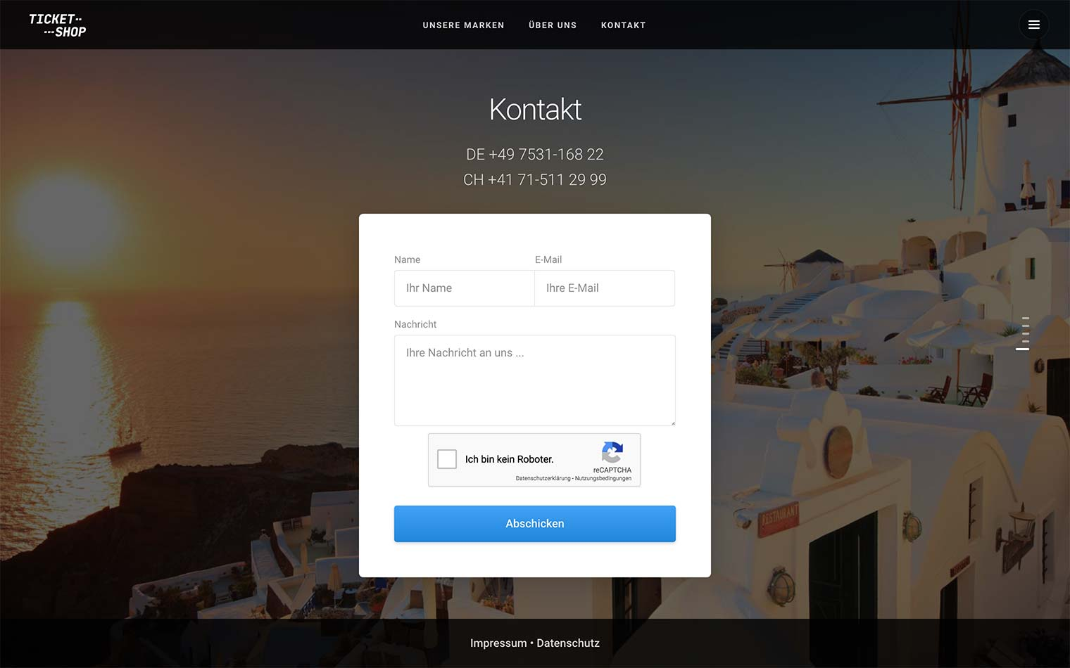 Kontakt Ticket-Shop