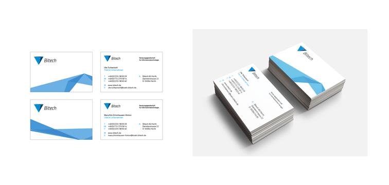 Visitenkarten – Corporate Design der Bitech AG Hürth