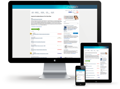 Responsive Webdesign für Vornesitzen.ch
