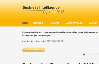 Screenshot Business Intelligence Agenda 2013