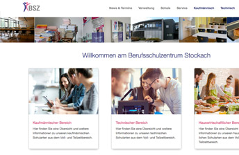 Vorschau BSZ Stockach Website