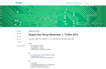 Teaserbild zum Projekt Drupal User Group Bodensee