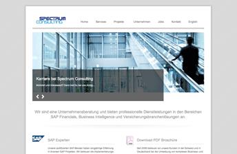 Screenshot Drupal Website Spectrum Consulting