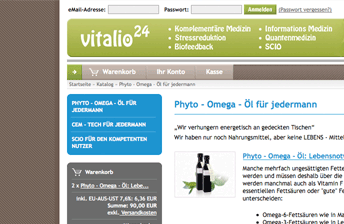 Screenshot eCommerce Online Shop mit xt:Commerce