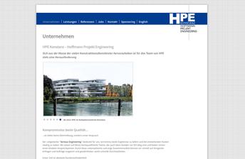 Screenshot Drupal Website Hoffmann Projekt Engineering Konstanz