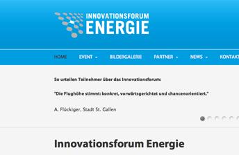Screenshot Website Innovationsforum Energie