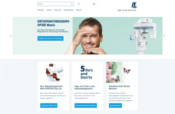 Screenshot Drupal Multisite Corporate Website für KaVo Dental GmbH