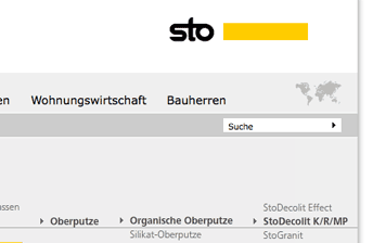 Website Relaunch Sto AG