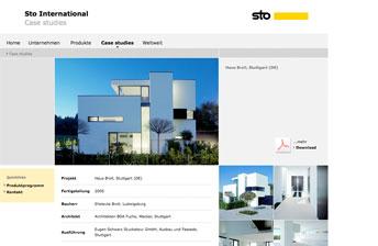 Screenshot Sto AG Corporate International Website