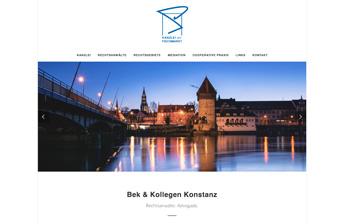 Rechtsanwaltskanzlei Bek & Kollegen Konstanz Startseite