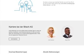Bewerber Landing Page (mit Icons und SVG Animationen)