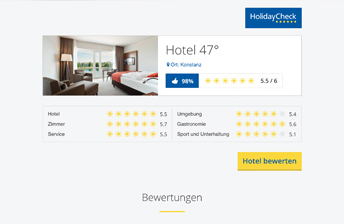 Partner Widget: Display Widget, Beispiel Hotel 47°
