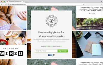 Screenshot einer Website, die Free Stock Images anbietet